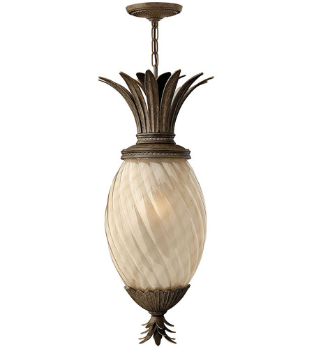 Hinkley 2122PZ-LED Plantation 1 Light 13 inch Pearl Bronze Outdoor Hanging Lantern in LED photo
