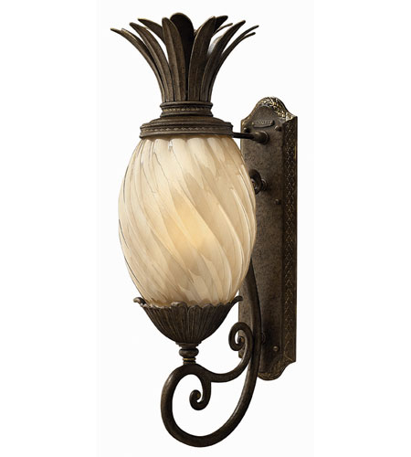 Hinkley Lighting Plantation 1 Light Outdoor Wall Lantern in Pearl Bronze 2124PZ-ES photo