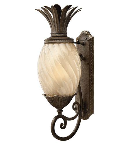 Hinkley 2124PZ-GU24 Plantation 1 Light 28 inch Pearl Bronze Outdoor Wall in GU24 photo