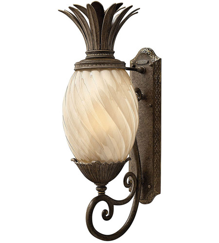 Hinkley 2124PZ Plantation 1 Light 28 inch Pearl Bronze Outdoor Wall Lantern in Incandescent photo