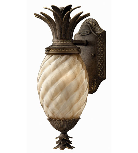 Hinkley Lighting Plantation 1 Light Outdoor Wall Lantern in Pearl Bronze 2126PZ-ES