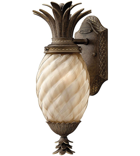 Hinkley 2126PZ Plantation 1 Light 14 inch Pearl Bronze Outdoor Wall Lantern in Incandescent photo