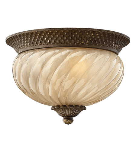 Hinkley 2128PZ-GU24 Plantation 1 Light 12 inch Pearl Bronze Outdoor Flush Mount in GU24 photo