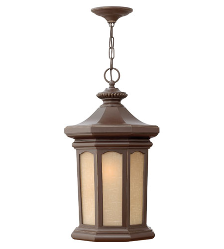 Hinkley Lighting Rowe Park 1 Light Outdoor Hanging Lantern in Oil Rubbed Bronze 2132OZ