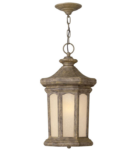 Hinkley Lighting Rowe Park 1 Light Outdoor Hanging Lantern in Pearl Bronze 2132PZ-DS