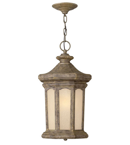 Hinkley Lighting Rowe Park 1 Light Outdoor Hanging Lantern in Pearl Bronze 2132PZ-ES
