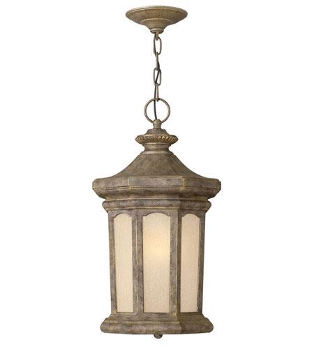 Hinkley Lighting Rowe Park 1 Light Outdoor Hanging Lantern in Pearl Bronze 2132PZ-ESDS