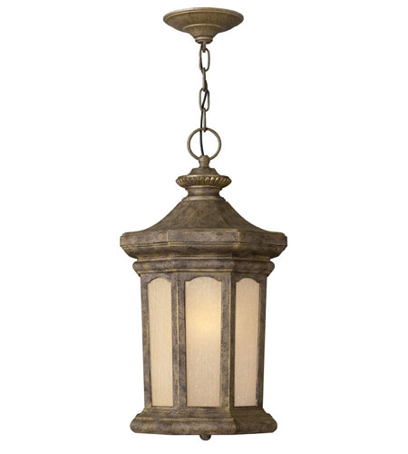 Hinkley Lighting Rowe Park 1 Light Outdoor Hanging Lantern in Pearl Bronze 2132PZ-LED