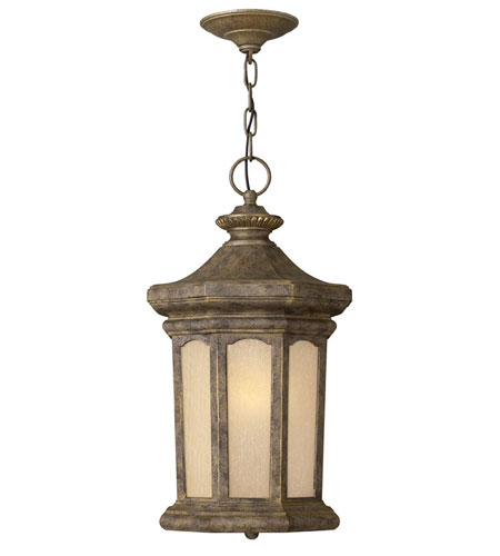 Hinkley Lighting Rowe Park 1 Light Outdoor Hanging Lantern in Pearl Bronze 2132PZ