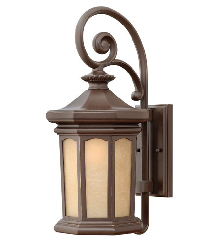 Hinkley Lighting Rowe Park 1 Light Outdoor Wall Lantern in Oil Rubbed Bronze 2134OZ-DS
