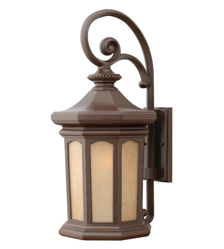 Hinkley Lighting Rowe Park 1 Light Outdoor Wall Lantern in Oil Rubbed Bronze 2135OZ