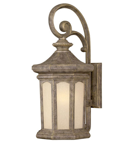Hinkley Lighting Rowe Park 1 Light Outdoor Wall Lantern in Pearl Bronze 2135PZ-ES