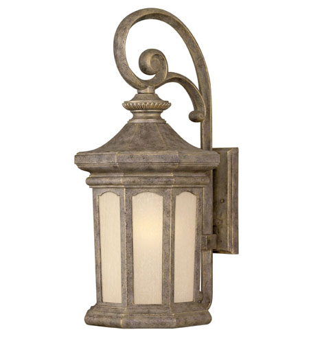 Hinkley Lighting Rowe Park 1 Light Outdoor Wall Lantern in Pearl Bronze 2135PZ-ESDS