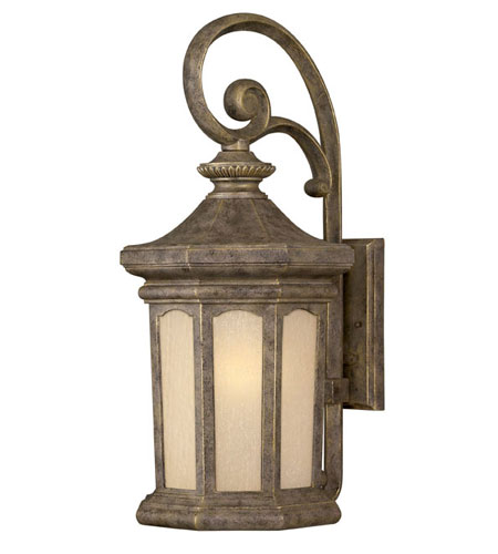 Hinkley Lighting Rowe Park 1 Light Outdoor Wall Lantern in Pearl Bronze 2135PZ-LED