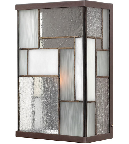 Hinkley Lighting Mondrian 1 Light Outdoor Wall Lantern in Buckeye Bronze 2150KZ photo