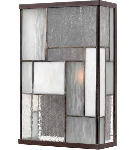 Hinkley Lighting Mondrian 2 Light Outdoor Wall Lantern in Buckeye Bronze 2154KZ