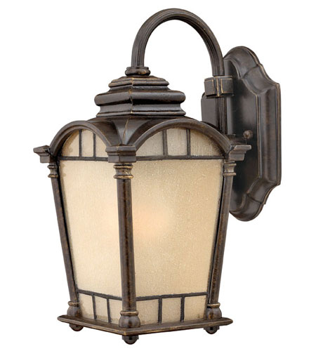 Hinkley Lighting Wellington 1 Light Outdoor Wall Lantern in Regency Bronze 2160RB-DS photo