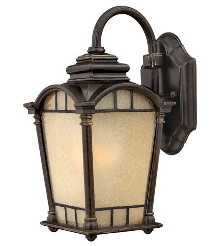 Hinkley Lighting Wellington 1 Light Outdoor Wall Lantern in Regency Bronze 2160RB