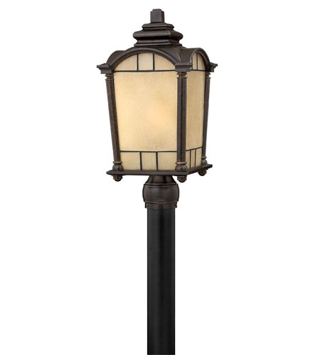 Hinkley Lighting Wellington 1 Light Post Lantern (Post Sold Separately) in Regency Bronze 2161RB