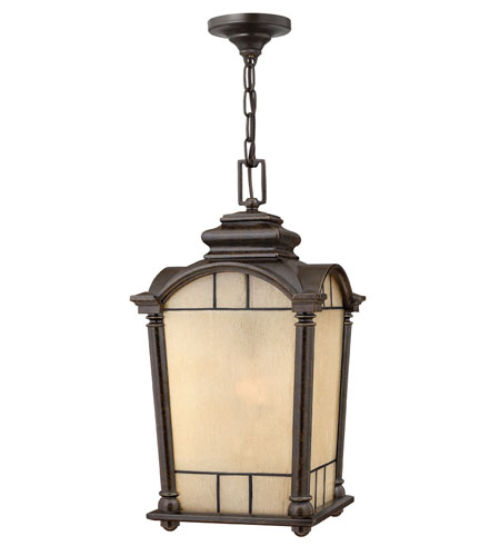 Hinkley Lighting Wellington 1 Light Outdoor Hanging Lantern in Regency Bronze 2162RB-DS