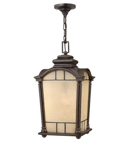 Hinkley Lighting Wellington 1 Light Outdoor Hanging Lantern in Regency Bronze 2162RB-DS