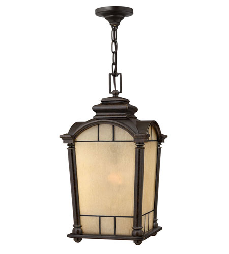 Hinkley Lighting Wellington 1 Light Outdoor Hanging Lantern in Regency Bronze 2162RB