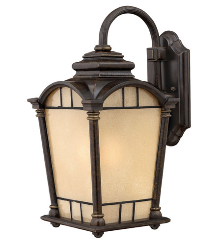 Hinkley Lighting Wellington 1 Light Outdoor Wall Lantern in Regency Bronze 2164RB-DS