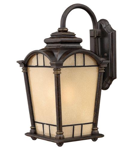 Hinkley Lighting Wellington 1 Light Outdoor Wall Lantern in Regency Bronze 2164RB-DS