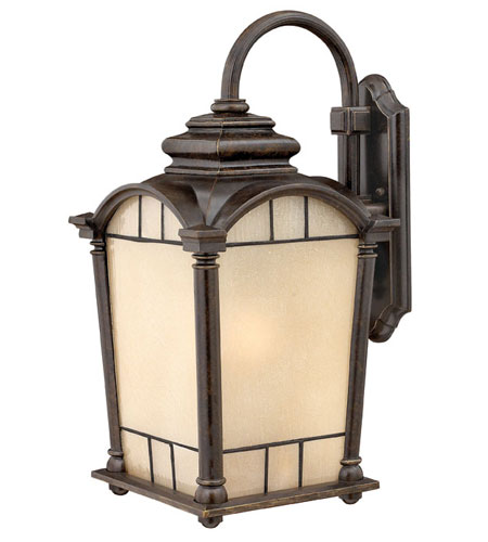 Hinkley Lighting Wellington 1 Light Outdoor Wall Lantern in Regency Bronze 2165RB-ES