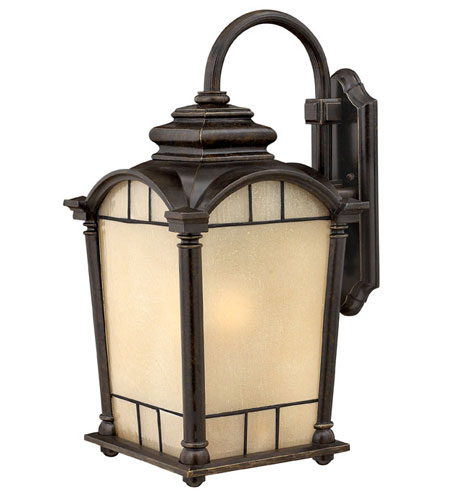 Hinkley Lighting Wellington 1 Light Outdoor Wall Lantern in Regency Bronze 2165RB