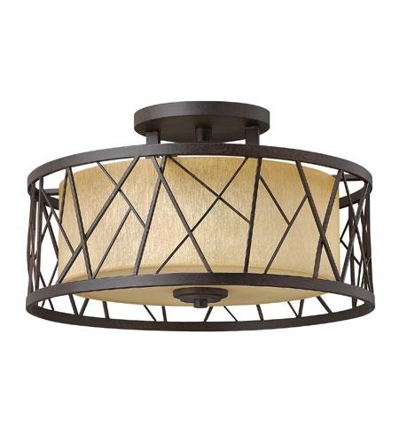 Hinkley Lighting Liberty 1 Light Outdoor Hanging Lantern in Sienna 2172SN-LED