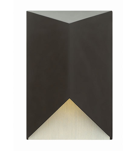 Hinkley Lighting Vento 1 Light Outdoor Wall in Satin Black 2180SK-LED