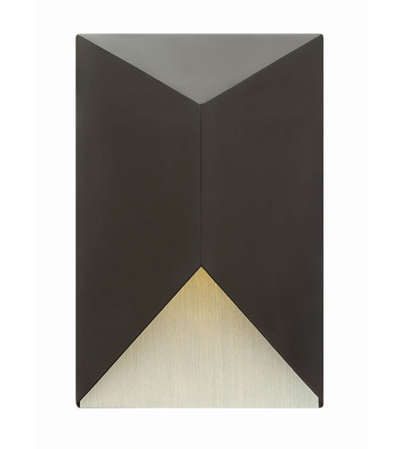 Hinkley Lighting Vento 1 Light Outdoor Wall in Satin Black 2184SK-LED