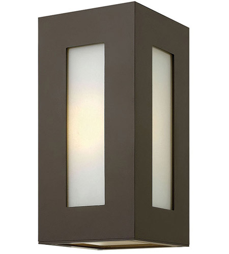 Hinkley 2190BZ Dorian 1 Light 12 inch Bronze Outdoor Wall Mount in Incandescent, White Etched Glass photo
