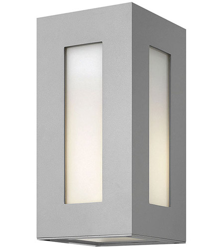 Hinkley 2190TT Dorian 1 Light 12 inch Titanium Outdoor Wall in Incandescent, White Etched Glass photo