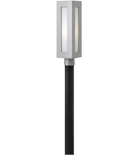 Hinkley 2191TT Dorian 1 Light 21 inch Titanium Outdoor Post Mount in Incandescent, White Etched Glass, Post Sold Separately photo