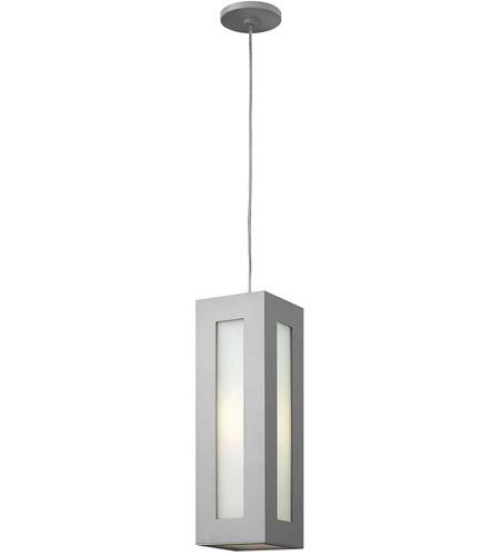 Hinkley Lighting Dorian 1 Light Outdoor Hanging in Titanium 2192TT