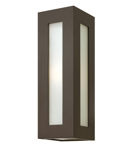 Hinkley 2194BZ-GU24 Dorian 1 Light 18 inch Bronze Outdoor Wall in GU24, White Etched Glass photo