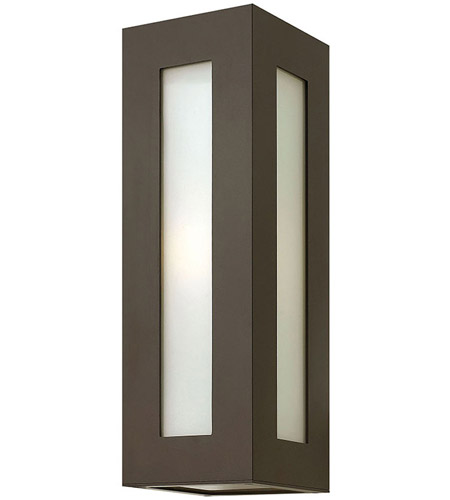 Hinkley 2194BZ Dorian 1 Light 18 inch Bronze Outdoor Wall Mount in Incandescent, White Etched Glass photo