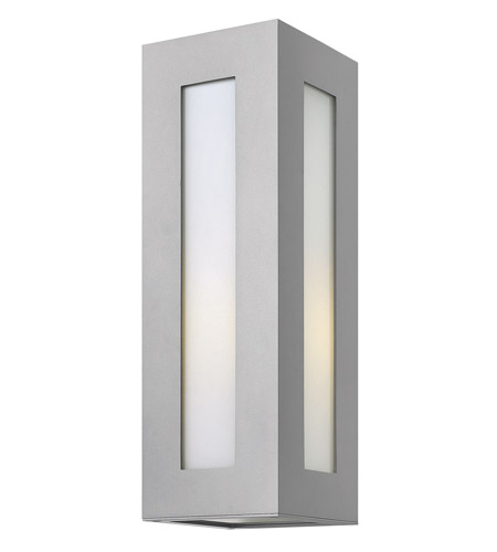 Hinkley Lighting Dorian 1 Light GU24 CFL Outdoor Wall in Titanium 2194TT-GU24