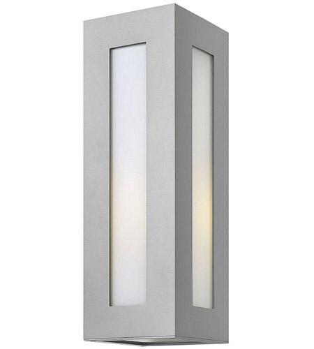 Hinkley 2194TT Dorian 1 Light 18 inch Titanium Outdoor Wall in Incandescent, White Etched Glass photo