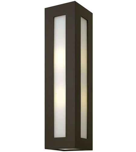 Hinkley 2195BZ Dorian 2 Light 24 inch Bronze Outdoor Wall Mount in Incandescent, White Etched Glass photo