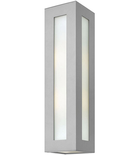 Hinkley 2195TT Dorian 2 Light 24 inch Titanium Outdoor Wall Mount in Incandescent, White Etched Glass photo