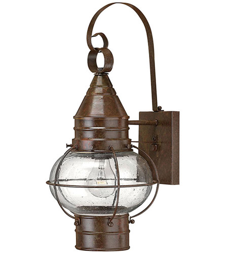 Hinkley Lighting Cape Cod 1 Light Outdoor Wall Lantern in Sienna Bronze 2200SZ