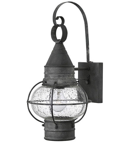 Hinkley Lighting Cape Cod 1 Light Outdoor Wall in Aged Zinc 2200DZ
