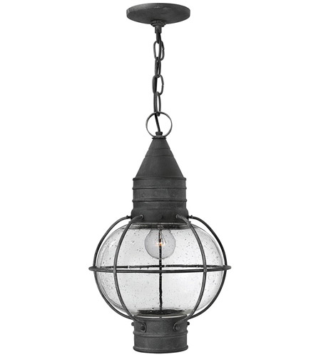 Hinkley 2202DZ Cape Cod 1 Light 11 inch Aged Zinc Outdoor Hanging Lantern in Incandescent photo