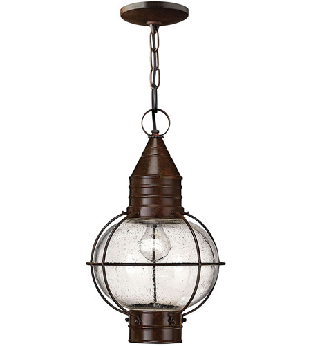 Hinkley Lighting Cape Cod 1 Light Outdoor Hanging Lantern in Sienna Bronze 2202SZ