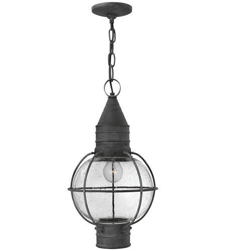 Hinkley Lighting Cape Cod 1 Light Outdoor Hanging Lantern in Aged Zinc 2202DZ