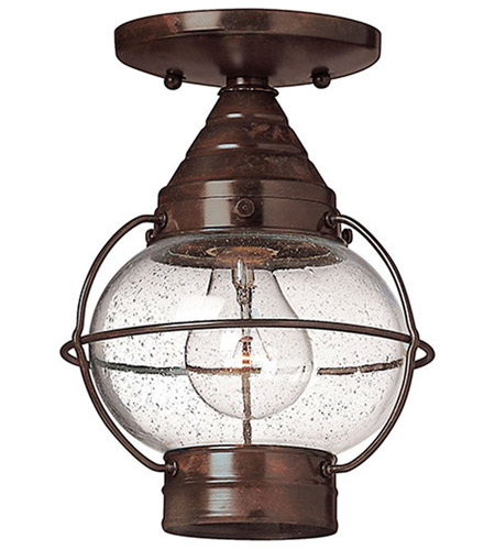 Hinkley 2203SZ Cape Cod 1 Light 7 inch Sienna Bronze Outdoor Flush Mount in Incandescent photo