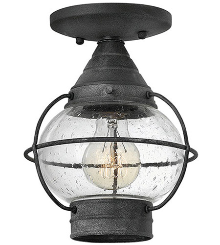 Hinkley Lighting Cape Cod 1 Light Outdoor Flush Lantern in Aged Zinc 2203DZ photo